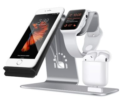 3 in 1 Aluminum Apple Phone, iWatch Stand, Airpods Charging Station