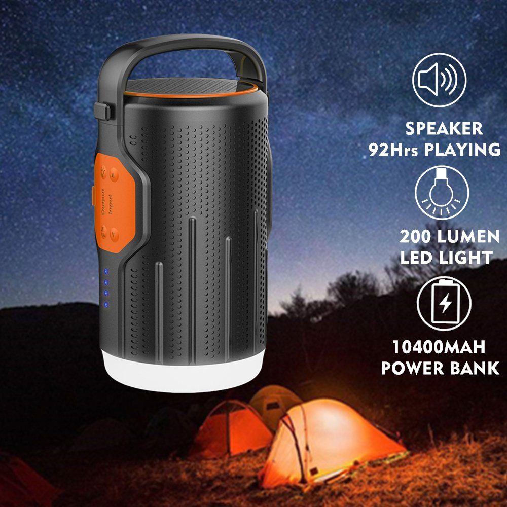 This Bluetooth Speaker Doubles as a Lantern and a Charger
