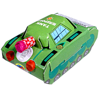 Firework tank moves and fires, obliterate your miniature enemies!