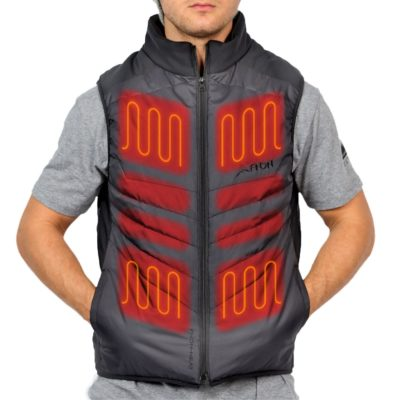 Heated vest with adjustable temperature control