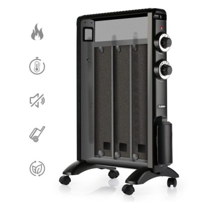 TURBRO 'Arcade' HR1015 Mica Portable Heater, Micathermic Flat-Panel with Adjustable Thermostat, 1500W 120V