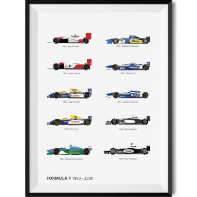 Formula One 1990's Winner Car Print