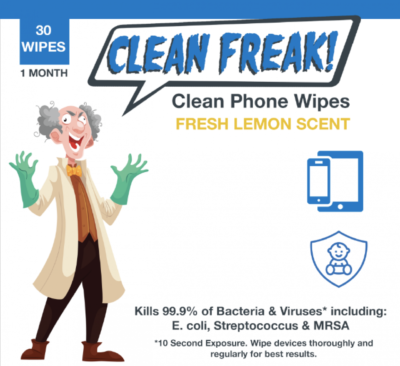 Phone Sterilizing Wipes – Kills the Flu Virus (and other germs) on your Phone!
