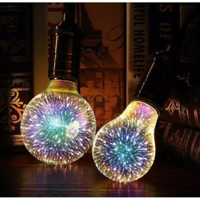 3D Rainbow Lightbulb