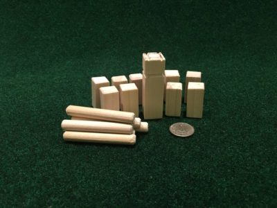 Mini Kubb Game – 2.5 inches