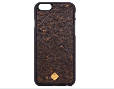Phone case made entirely out of coffee beans