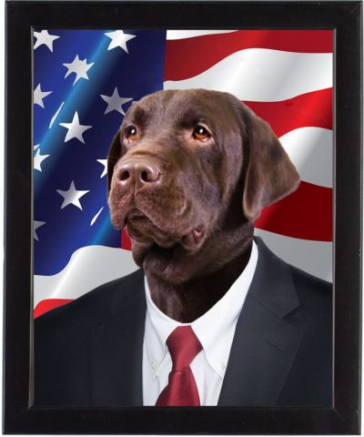 Bark Obama – Purrsonalized American dog portrait