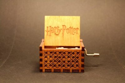 Holynwood Engraved wooden music box Harry Potter
