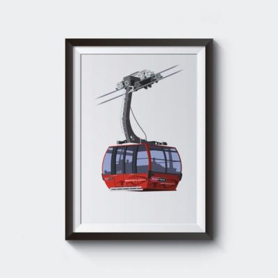 Whistler Blackcomb Peak 2 Peak Gondola Artwork