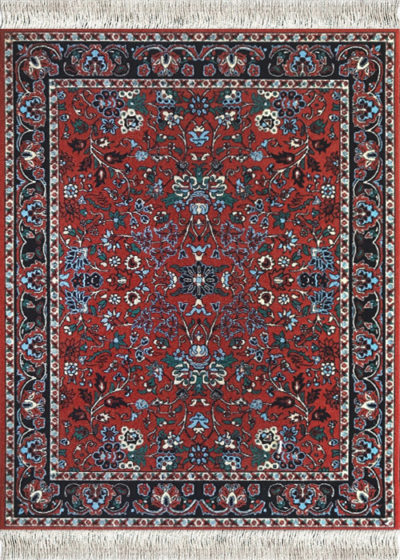 Tiny oriental rugs for your computer mouse