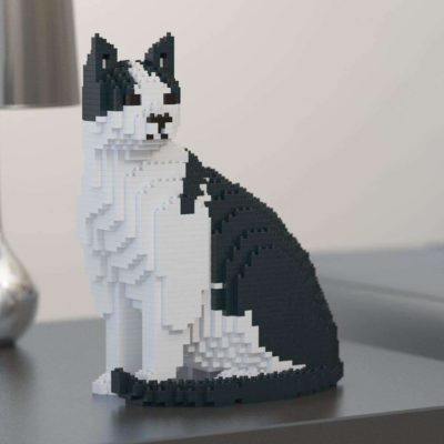 Black & White Cat Sculpture