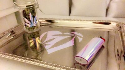 Holographic Rolling Tray Set