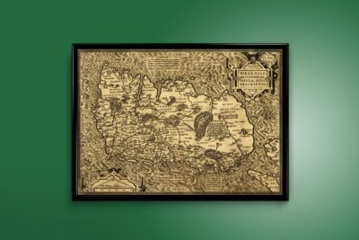 The oldest known map of Ireland from 1573