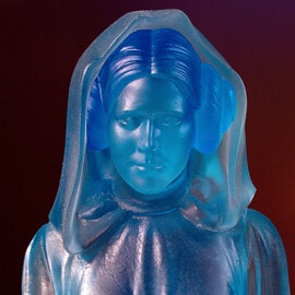"Glowing Leia Hologram lamp with ""Help me Obi-wan"" sound effect"