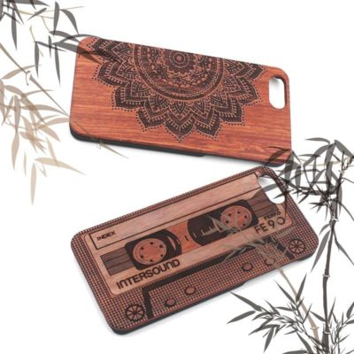 Real Bamboo Wooden Phone Case