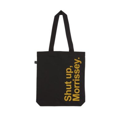 Shut up, Morrissey tote bags