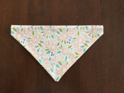 Pink Flower/ Deer Handmade Dog Bandana