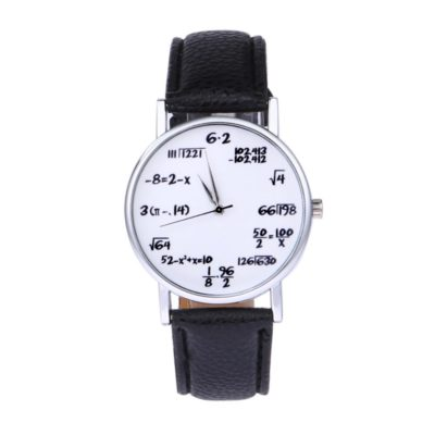 Geeky math formula equations watch.