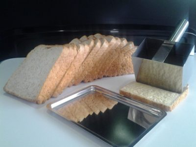Rapidly apply butter to bread!