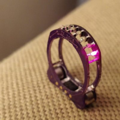 Cyborg Ring: an electronics ring (literally) that proves LEDs are better than diamonds