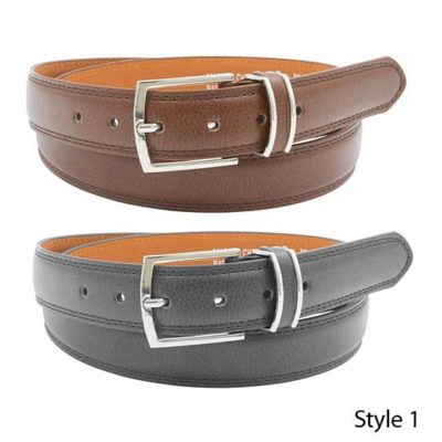 2 Pack: Men's Black & Brown Genuine Leather Belts Sale price$ 8.99