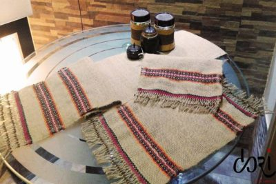 Hand Woven Jute Table Mat and Table Runner
