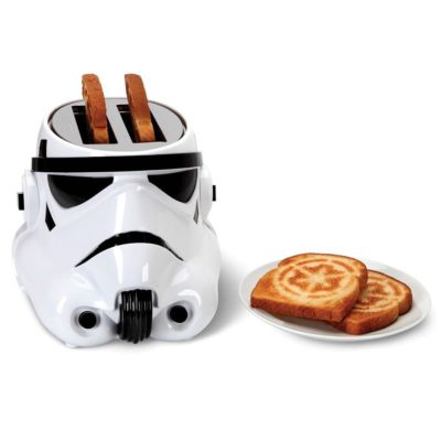 Star Wars Stormtrooper toaster with the imperial crest