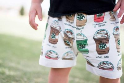Pay Your Age for Kids Coffee Shorts