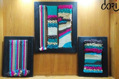Hand Woven Fabric on Wooden Frames