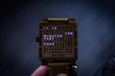 Creative wooden watch