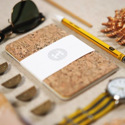 Handmade Cork Cover Pocket Notebook