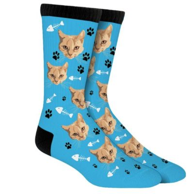 Cutie cats printed on sock