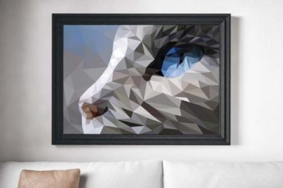 Polygonal Cat Painting