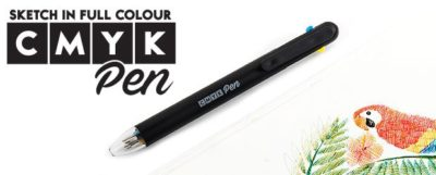 A CMYK ink pen that lets you sketch in almost every color