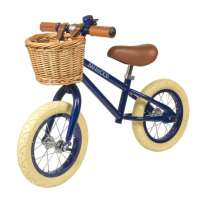 "So cute! A ""grown up"" style balance bike for toddlers. It even has a basket for toys!"