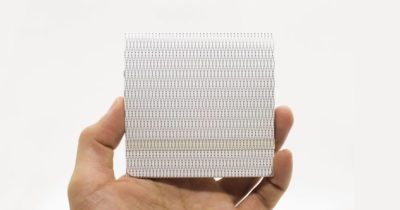 Paper-thin, durable minimalist wallet made of synthetic paper.
