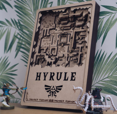 Laser cut map of Hyrule