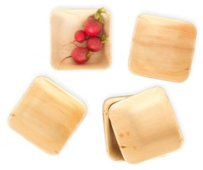 100% Compostable Premium Party Palm Leaf Plates