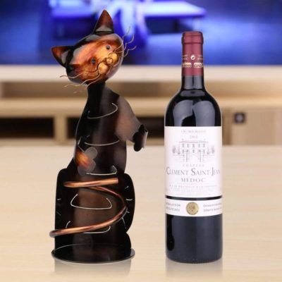 [SALE] High-Quality Hand Made Cute Kitty Wine Rack [Perfect Gift]