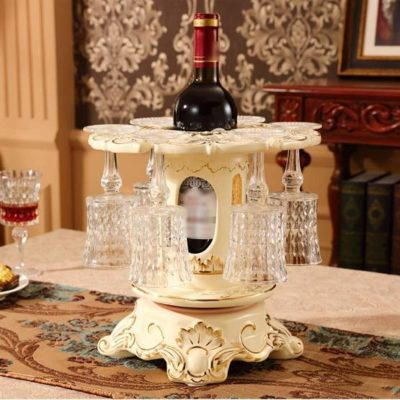 [High Quality] Hand Made Elegant Art European Style Ceramic Wine Rack