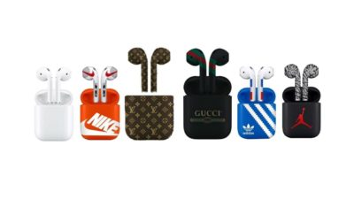 Custom Made Bluetooth Wireless AirPods Nike, Supreme, Gucci Fornite