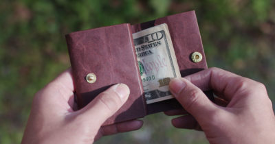 Durable paper wallet that looks better with age.