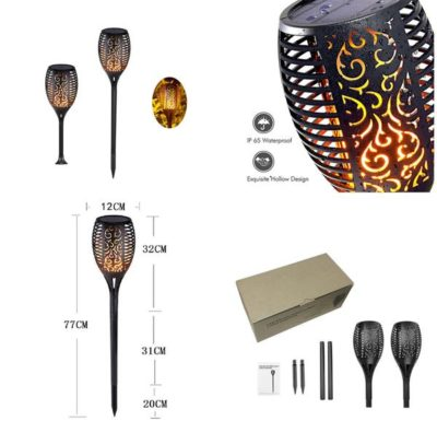 100% Safe Flame Effect LED Solar Torches – Turn Your House ON FIRE!