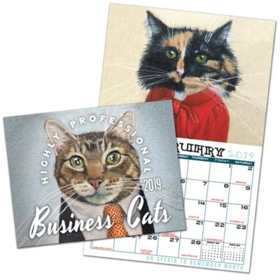 Highly Professional Business Cats Wall Calendar 2019