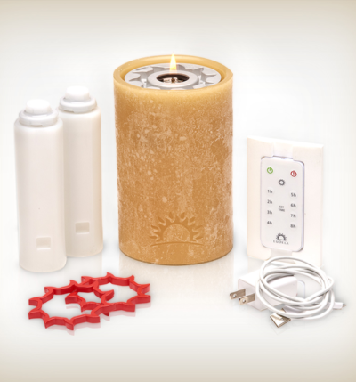 Remote Controlled, Real-flame Candle