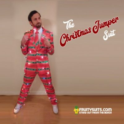 Christmas Jumper Suit & Tie