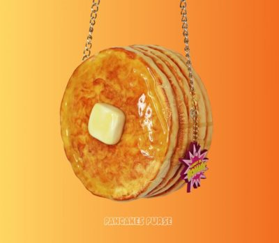 Stack of Pancakes with a Pat of Butter and Syrup Purse
