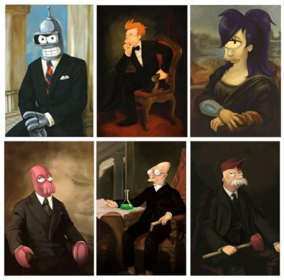 Futurama Presidential Portrait Art Collection