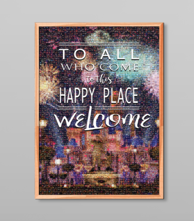 Custom Disneyland Castle Mosaic Poster w/ Your Own Vacation Photos