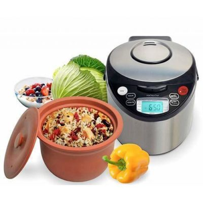 This multicooker slow cooks food in clay and creates unique flavor, perfect for mothers day!